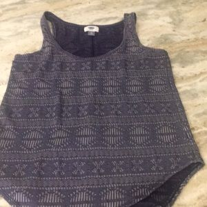 Old Navy boho tank. Blue with pattern. Loose fit